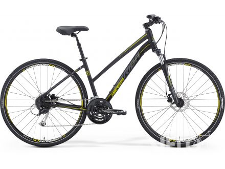 Merida CROSSWAY 100-LADY Matt Black(Yellow/Grey) 2016