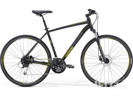 Foto - Merida CROSSWAY 100 Matt Black(Yellow/Grey) 2016