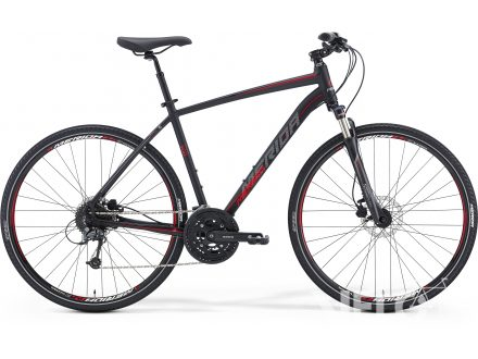 Merida CROSSWAY 300 Matt Black(Red/Grey) 2016