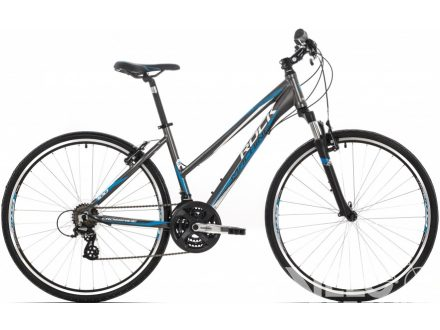 Rock Machine CrossRide 100 Lady anthracite/white/blue 2016
