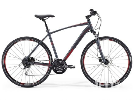 Merida Crossway 100 Matt Anthracite(Red/Black) 48cm