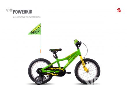 "Ghost POWERKID 16"" green/yellow 2017"