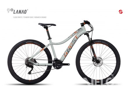 "Foto - Ghost LANAO 5 27,5"" cloud white/titanium gray/monarch orange 2017"