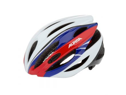 přilba Alpina Cybric white-blue-red
