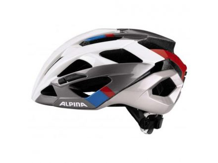 přilba Alpina Valparola RC white-darksilver-blue-red