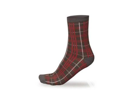 Ponožky Endura Plaid Red