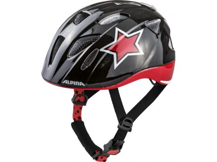 přilba Alpina Ximo Flash, black-red-white star