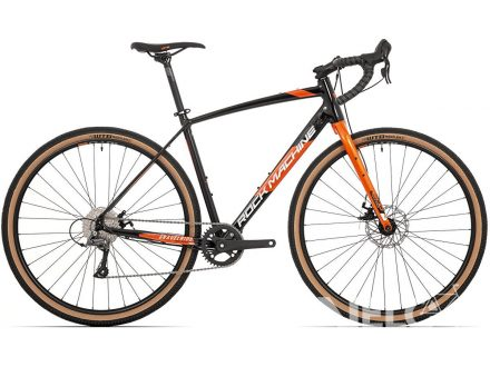 Rock Machine GravelRide 200 gloss black/brick orange/silver 2021